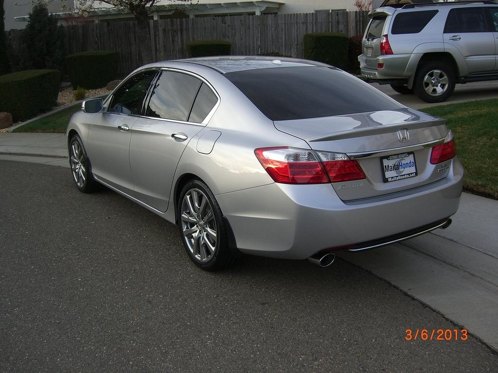 2013 Accord Touring + Alabaster Silver + HFP's + Tint + Spoiler - Drive Accord Honda Forums