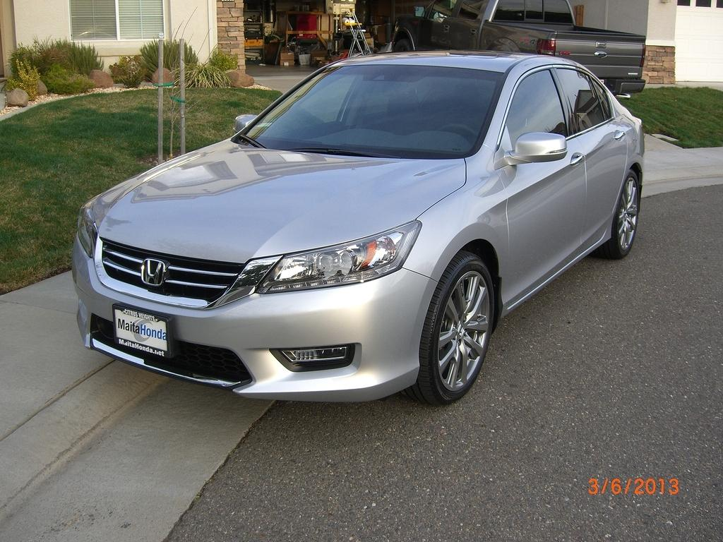 9th Gen Accord >> 2013 Accord Touring + Alabaster Silver + HFP's + Tint + Spoiler - Drive Accord Honda Forums