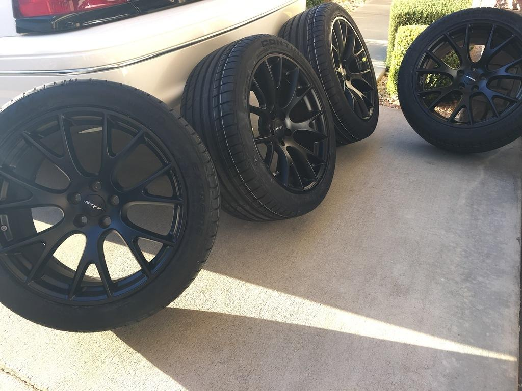 Dodge Challenger 2007 >> Scat Pack Charger with new Hellcat wheels | SRT Hellcat Forum